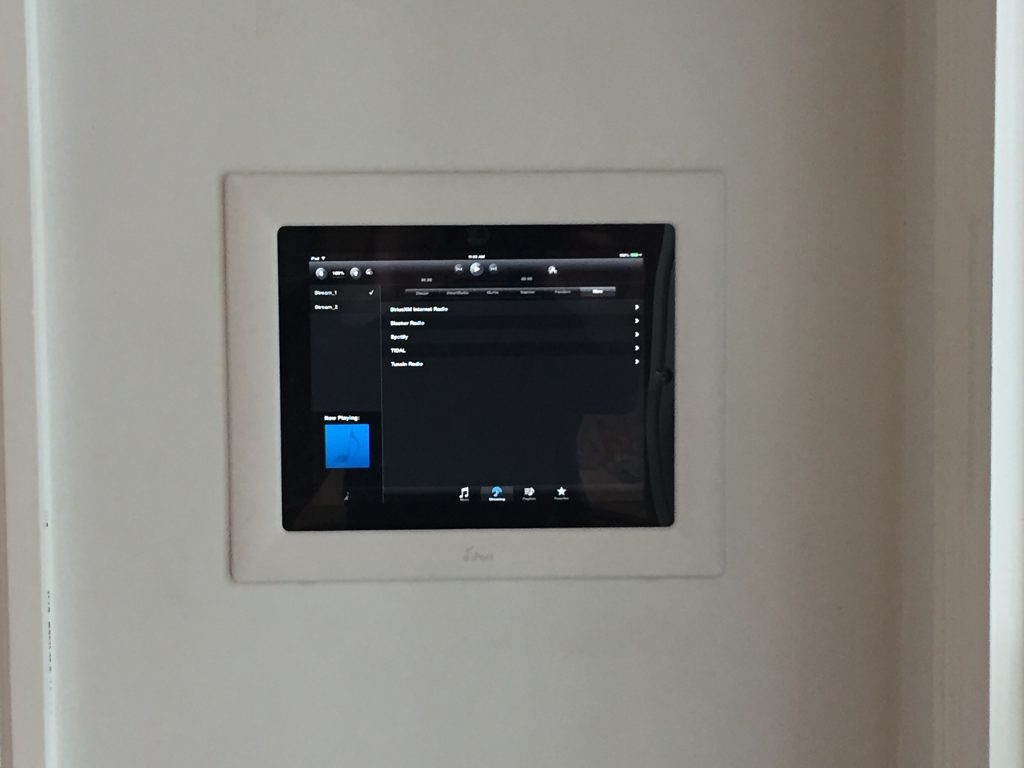 Wall touch pad AV controllers