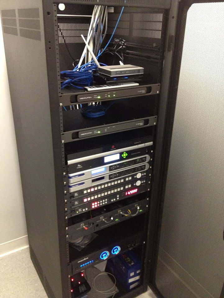 AV rack for 300 person conference center