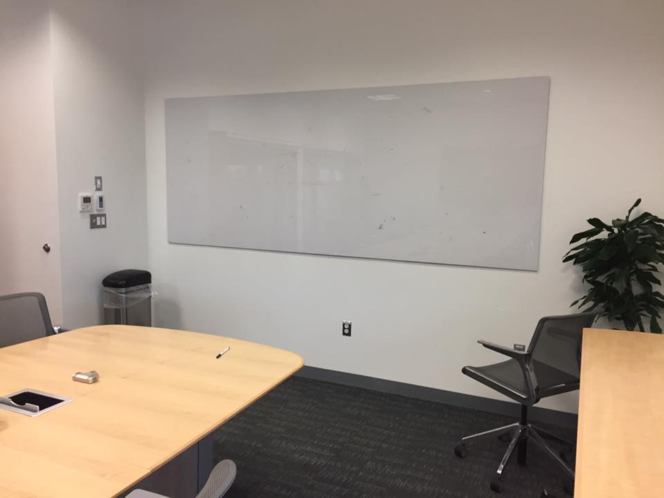 conference room glass board