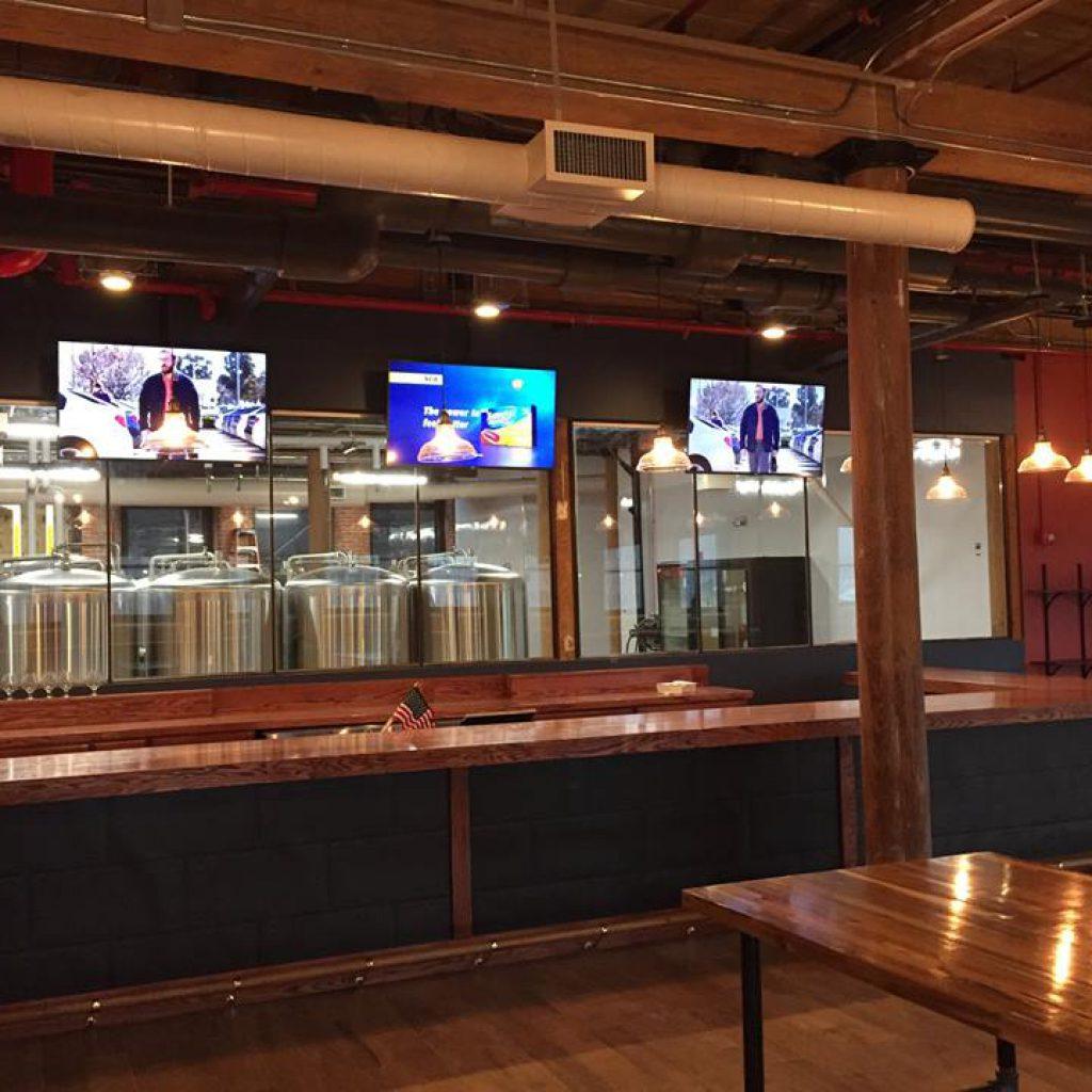 AV systems for bar area