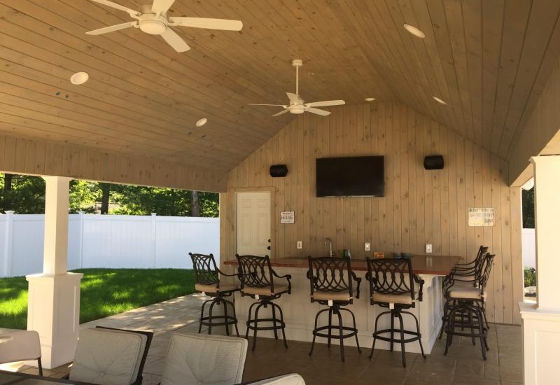 Franklin outdoor cabana AV system